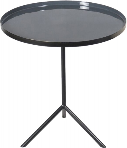 Carson Accent Table - Black/Enamel