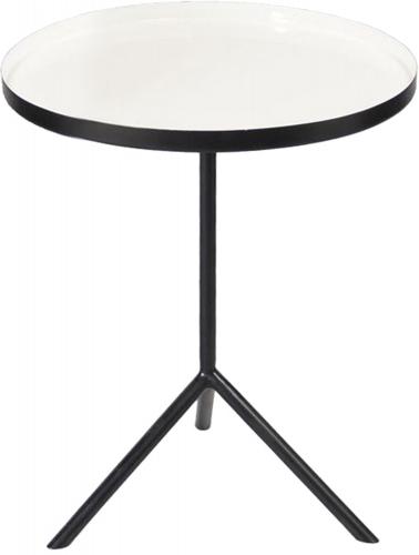 Chana Accent Table - Black/Enamel