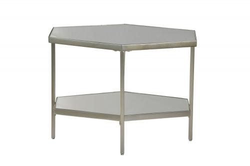 Jetta Side Table - Silver Leaf