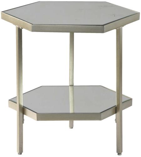 Raya Side Table - Silver Leaf