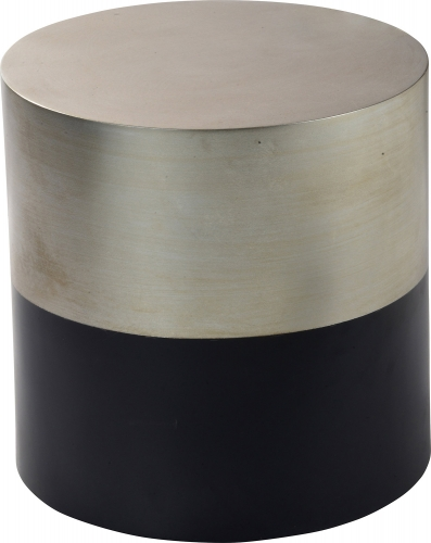 Barrio Side Table - Champagne Silver Leaf