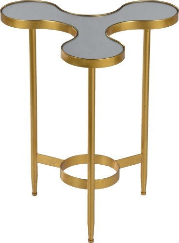 Fausto Side Table - Gold Leaf