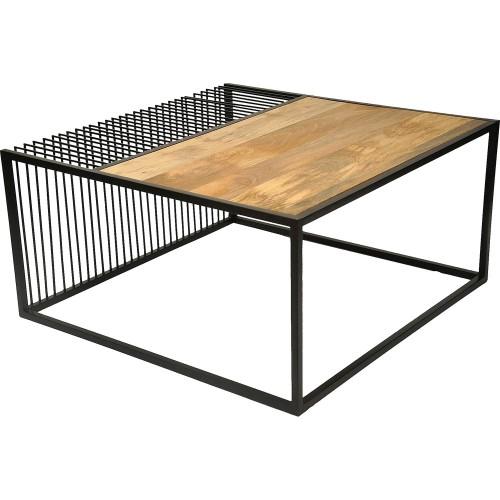 Dreena Accent Table - Natural/Black