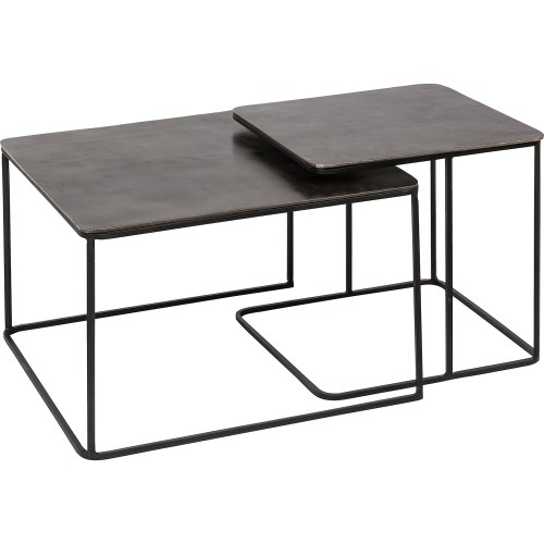 Rafferty Accent Table - Charcoal/Matte Black