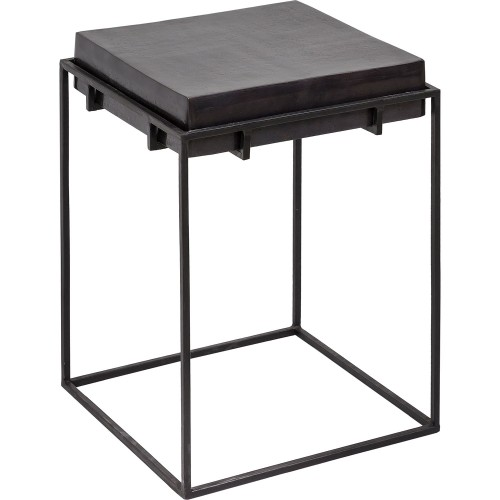 Nansen Accent Table - Bronze/Matte Black