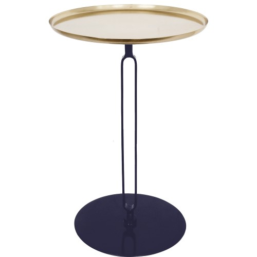 Lader Accent Table - Gold/Dark Blue