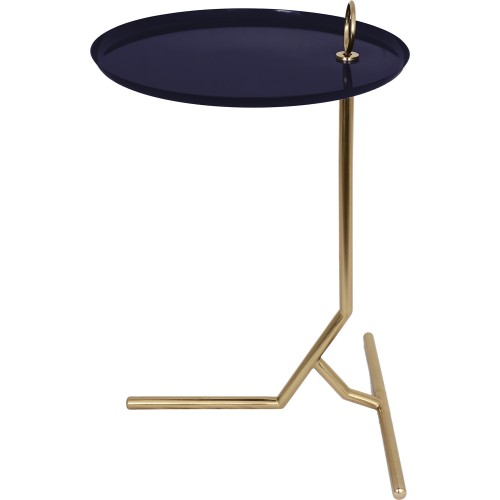 Nakia Accent Table - Dark Blue/Gold