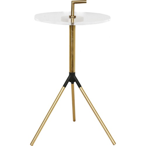 Tabina Accent Table - Gold/Clear