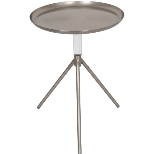 Pacey Accent Table - Pewter/Clear