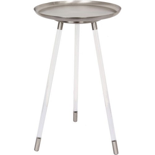 Radbourne Accent Table - Pewter/Clear