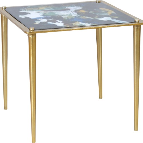 Noble Accent Table - Brass