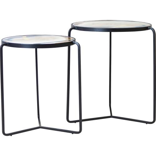 Tennyson Accent Table - Black/Glass