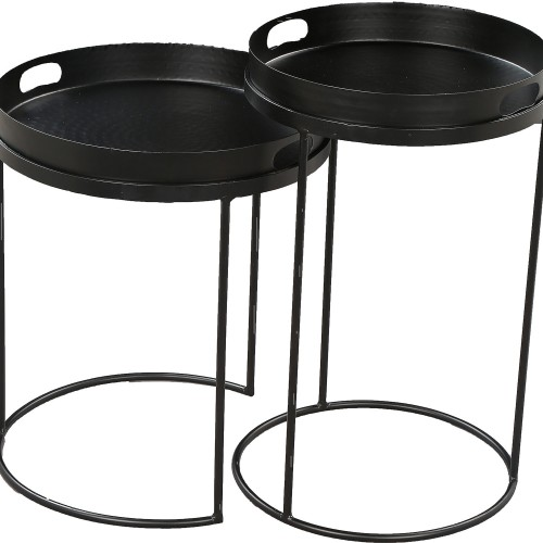 Fannie Outdoor Accent Table - Black