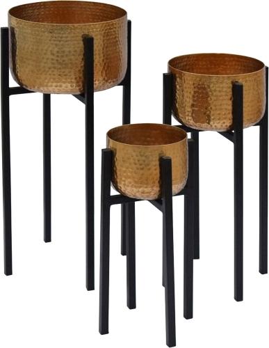 Lebren Planter - Brass/Black