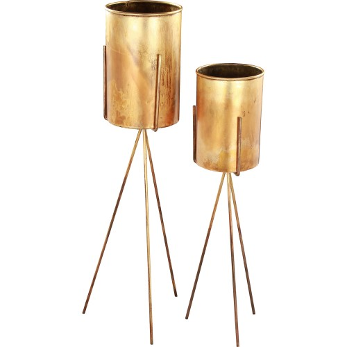 Talon Outdoor Vase - Antique Brass