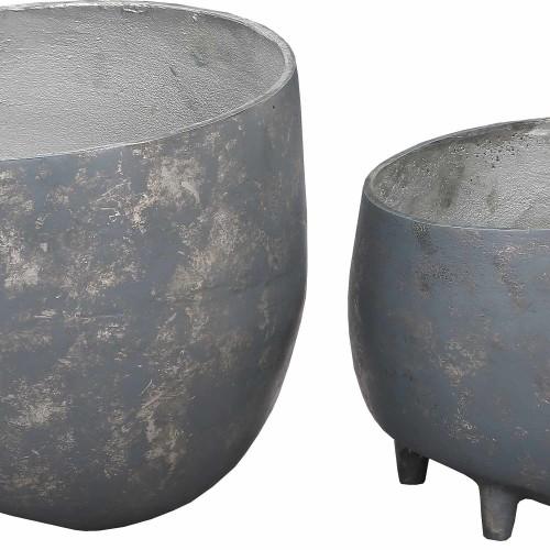 Declan Outdoor Vase - Distressed Cement