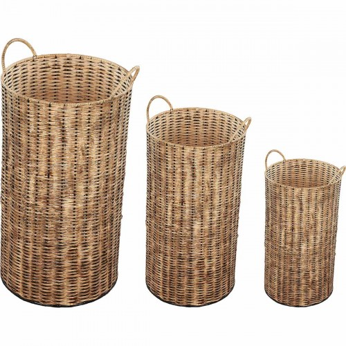 Haya Outdoor Vase - Natural Rattan Brown