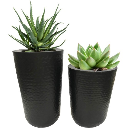 Jamin Outdoor Vase - Black Powder Coated