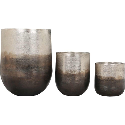 Hadron Outdoor Vase - Neo Pewter Copper