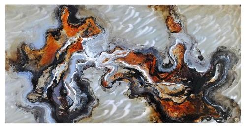 Blending Waters Framed Painting