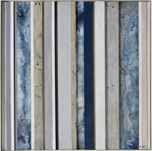 Slatted Sky Wall Decor - Matte