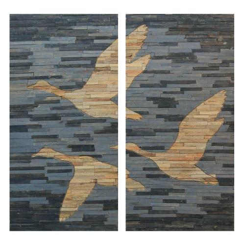 Fly Wall Decor Painting - Grey/Natural