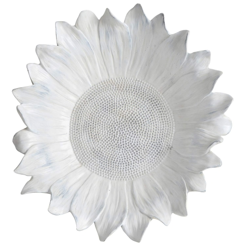 Daisy Wall-hanging Statue - Rustic Whitewash