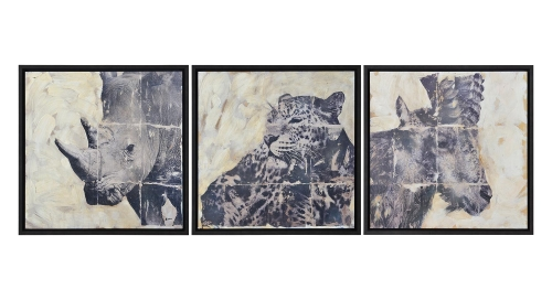 Wyler Wall Decor Painting - Black