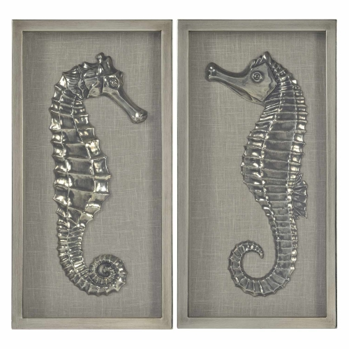 Curie Wall Decor Painting - Antique Brushed Silver