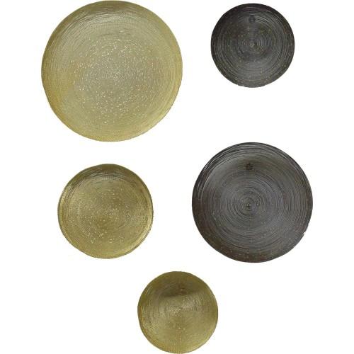 Cass Alternative Wall Decor - Gold/Gray
