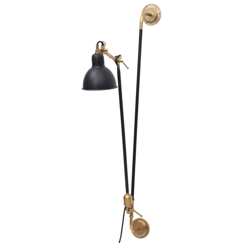 Bristo Sconce Lighting - Gold/Black