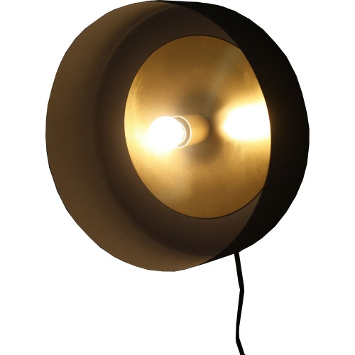 Myles Wall Sconce - Black/Matte Brass