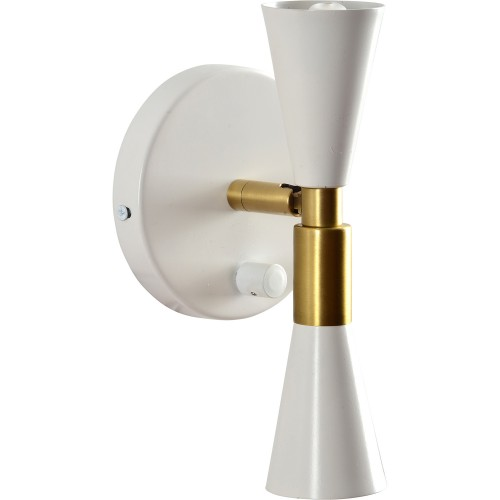 Ashdale Wall Sconce - Antique Brass/Matte White