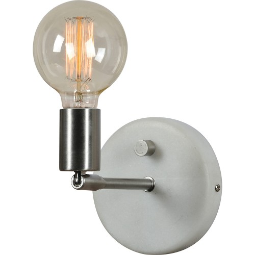 Margerie Wall Sconce - Satin Nickel/White Marble