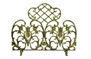 Single Panel Antique Gold Cast Aluminum Screen-Uniflame