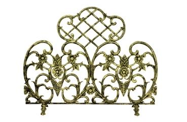 Single Panel Antique Gold Cast Aluminum Screen-Uniflame