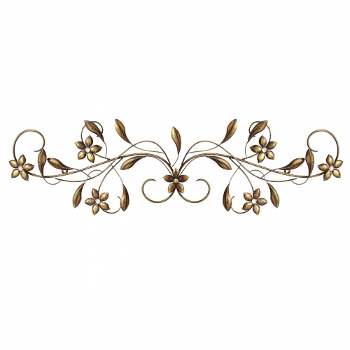 Vintage Scroll Wall Decor - Antique Gold