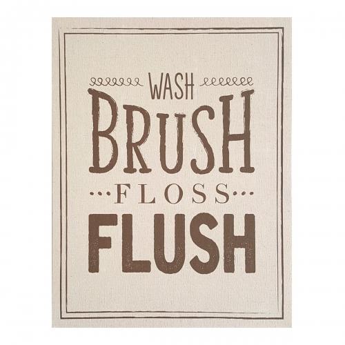 Wash Brush Floss Flush Wall Art - Multi