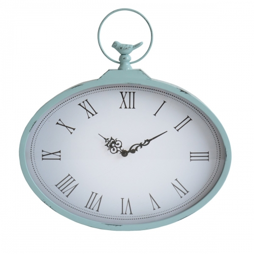 Shabby Wall Clock - Light Blue