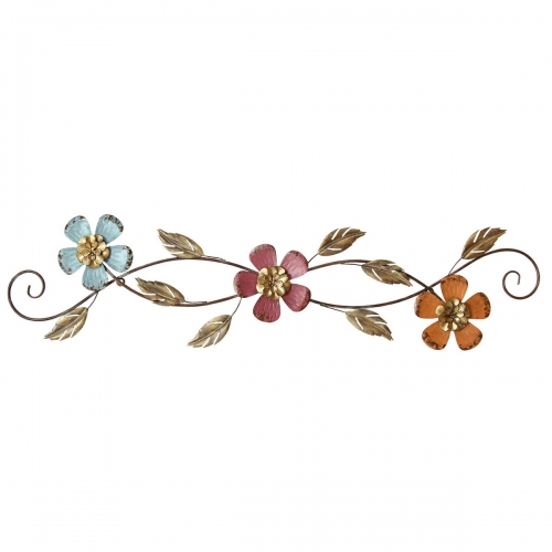 Floral Scroll Wall Decor - Multi