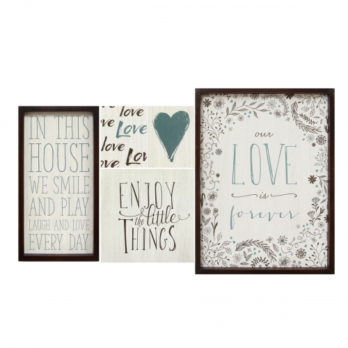 Love is Forever Wall Art (Set of 5) - Mutli