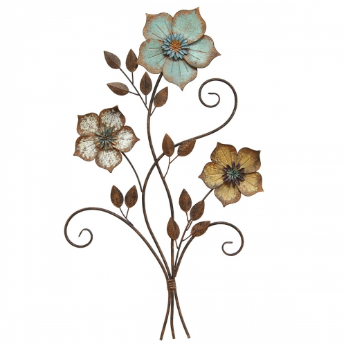 Tricolor Flower Wall Decor - Multi