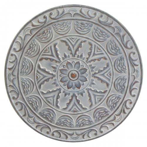 Medallion Wall Decor - Distressed Blue