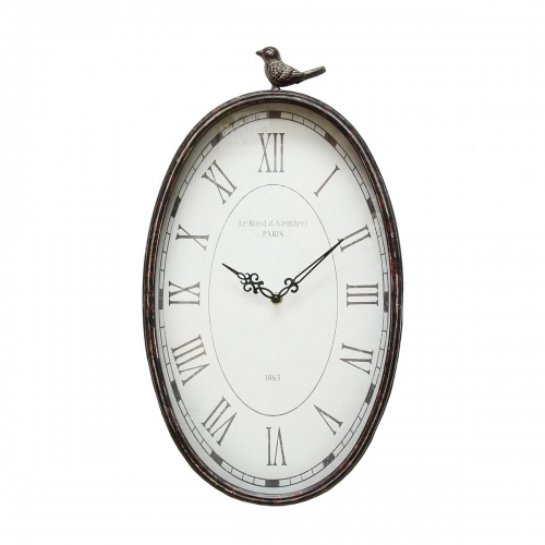 Antique Oval Clock - Gunmetal