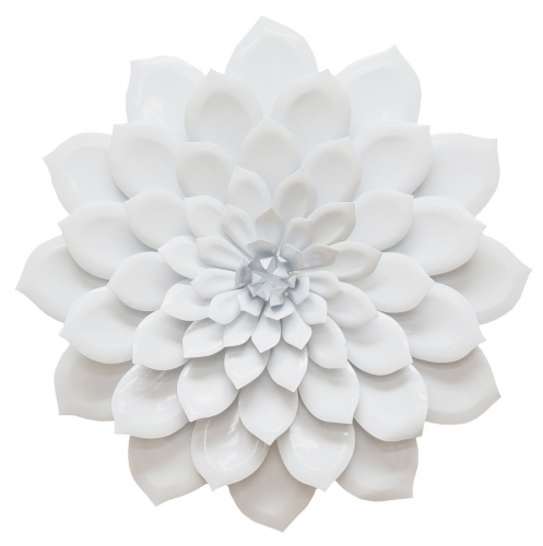 Layered Flower Wall Decor - White