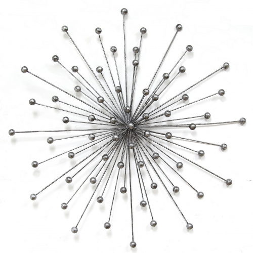 Silver Burst Wall Decor - Silver