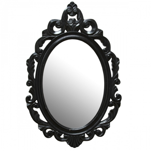 Black Baroque Mirror - Black