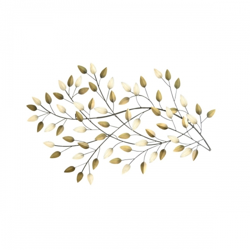 Blowing Leaves - Gold/Beige