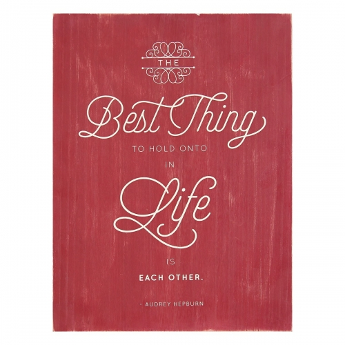 Best Thing in Life Box Art - Red/White