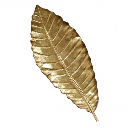 Elegant Leaf Wall Decor - Gold